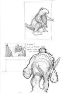 Small dino, thumbnail, and study.